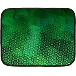Ombre Green Abstract Forest Double Sided Fleece Blanket (Mini)  35 x27 Blanket Back