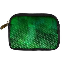 Ombre Green Abstract Forest Digital Camera Cases