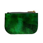 Ombre Green Abstract Forest Mini Coin Purses Back