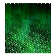 Ombre Green Abstract Forest Shower Curtain 66  x 72  (Large)