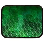 Ombre Green Abstract Forest Netbook Case (XXL)  Front