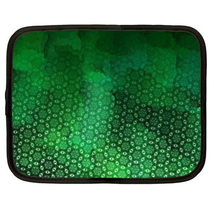 Ombre Green Abstract Forest Netbook Case (XXL)