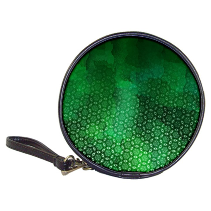 Ombre Green Abstract Forest Classic 20-CD Wallets