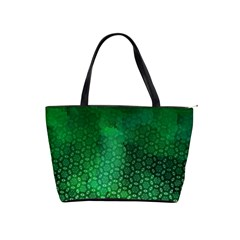 Ombre Green Abstract Forest Shoulder Handbags
