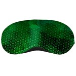 Ombre Green Abstract Forest Sleeping Masks Front