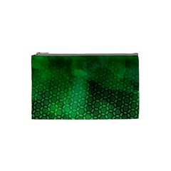 Ombre Green Abstract Forest Cosmetic Bag (Small)