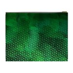 Ombre Green Abstract Forest Cosmetic Bag (XL) Back
