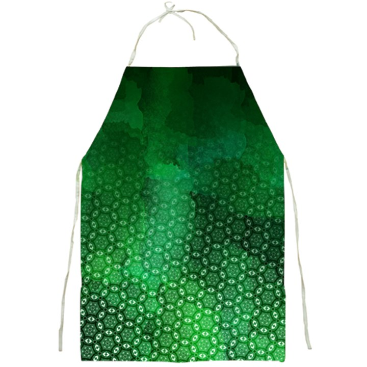 Ombre Green Abstract Forest Full Print Aprons