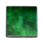 Ombre Green Abstract Forest Memory Card Reader (Square) Front