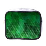 Ombre Green Abstract Forest Mini Toiletries Bags Front