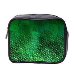 Ombre Green Abstract Forest Mini Toiletries Bag 2 Side