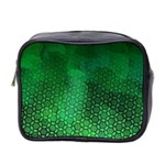 Ombre Green Abstract Forest Mini Toiletries Bag 2-Side Front