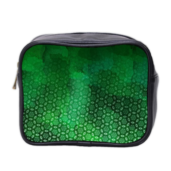 Ombre Green Abstract Forest Mini Toiletries Bag 2-Side