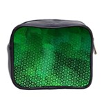Ombre Green Abstract Forest Mini Toiletries Bag 2-Side Back