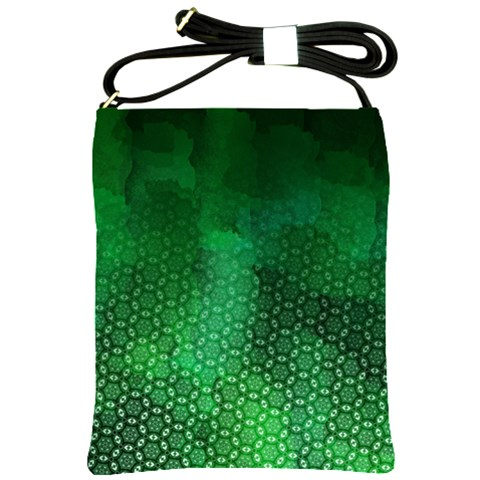 Ombre Green Abstract Forest Shoulder Sling Bags