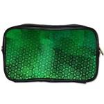 Ombre Green Abstract Forest Toiletries Bags Front