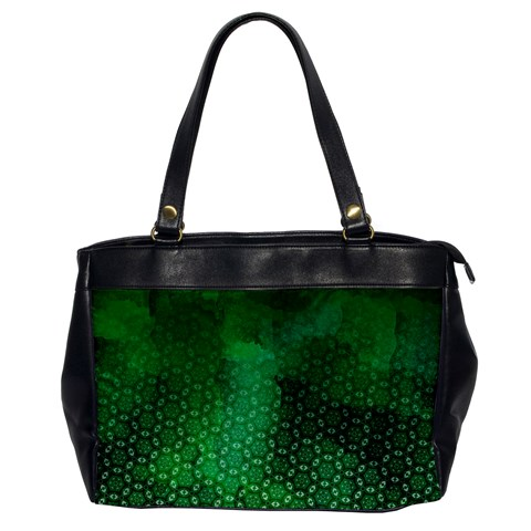 Ombre Green Abstract Forest Office Handbags
