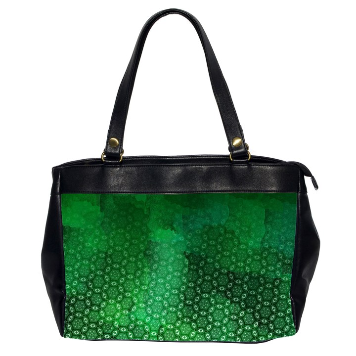 Ombre Green Abstract Forest Office Handbags (2 Sides)