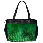 Ombre Green Abstract Forest Office Handbags (2 Sides)  Back