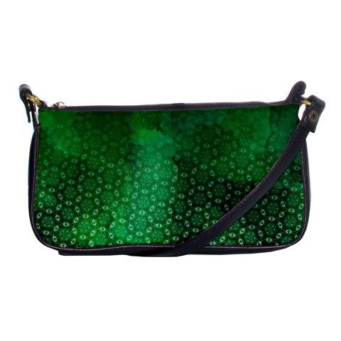Ombre Green Abstract Forest Shoulder Clutch Bags