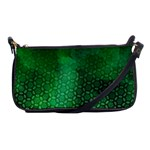 Ombre Green Abstract Forest Shoulder Clutch Bags Front