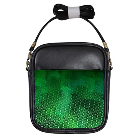 Ombre Green Abstract Forest Girls Sling Bags