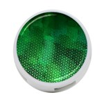 Ombre Green Abstract Forest 4-Port USB Hub (One Side) Front