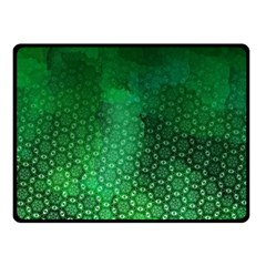 Ombre Green Abstract Forest Fleece Blanket (Small)