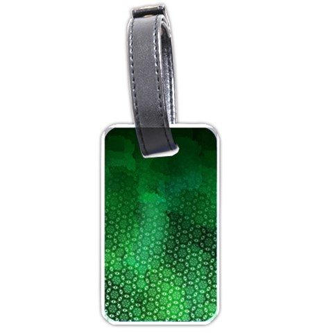 Ombre Green Abstract Forest Luggage Tags (Two Sides)