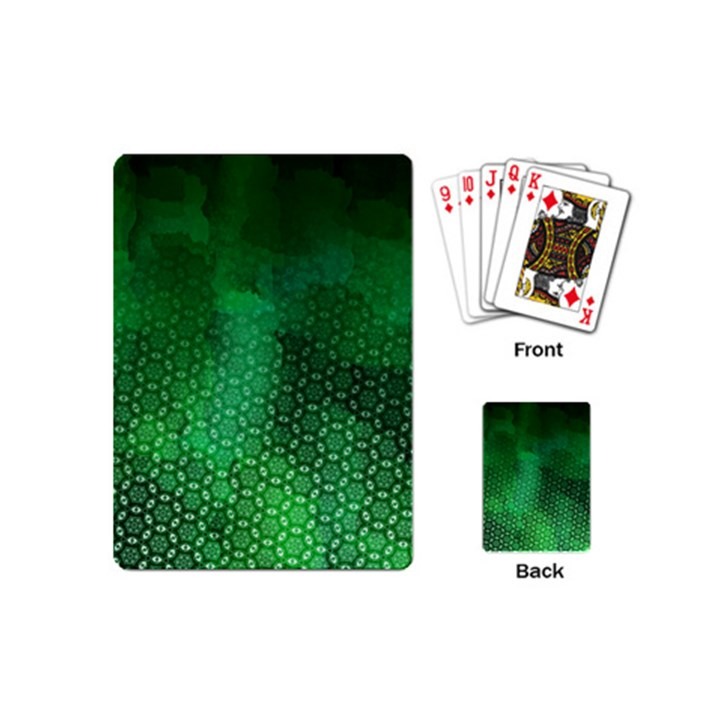 Ombre Green Abstract Forest Playing Cards (Mini)