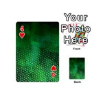 Ombre Green Abstract Forest Playing Cards 54 (Mini)  Front - Heart4
