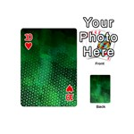 Ombre Green Abstract Forest Playing Cards 54 (Mini)  Front - Heart10