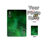 Ombre Green Abstract Forest Playing Cards 54 (Mini)  Front - Club3