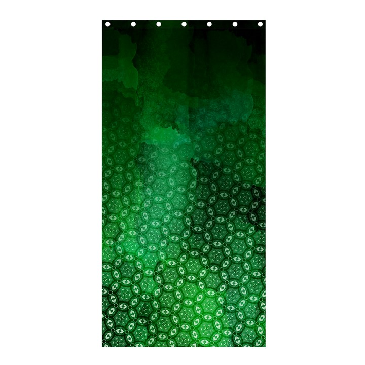 Ombre Green Abstract Forest Shower Curtain 36  x 72  (Stall)