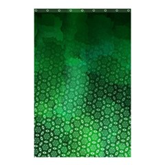 Ombre Green Abstract Forest Shower Curtain 48  X 72  (small)
