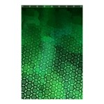 Ombre Green Abstract Forest Shower Curtain 48  x 72  (Small)  42.18 x64.8 Curtain