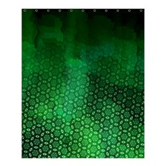 Ombre Green Abstract Forest Shower Curtain 60  X 72  (medium)