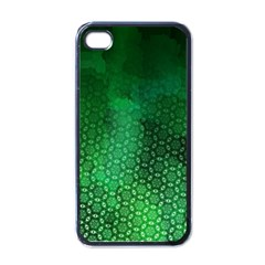Ombre Green Abstract Forest Apple iPhone 4 Case (Black)