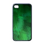 Ombre Green Abstract Forest Apple iPhone 4 Case (Black) Front