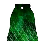 Ombre Green Abstract Forest Bell Ornament (2 Sides) Back