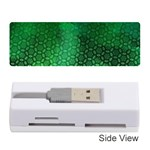 Ombre Green Abstract Forest Memory Card Reader (Stick)  Front