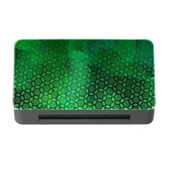 Ombre Green Abstract Forest Memory Card Reader with CF