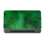 Ombre Green Abstract Forest Memory Card Reader with CF Front