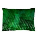 Ombre Green Abstract Forest Pillow Case (Two Sides) Back