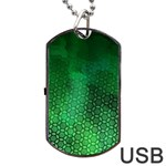 Ombre Green Abstract Forest Dog Tag USB Flash (Two Sides)  Back