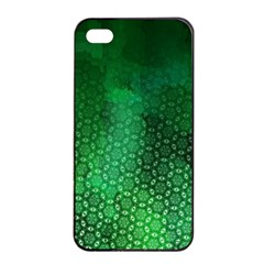 Ombre Green Abstract Forest Apple iPhone 4/4s Seamless Case (Black)