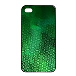 Ombre Green Abstract Forest Apple iPhone 4/4s Seamless Case (Black) Front