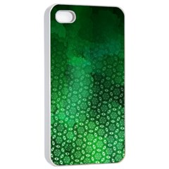 Ombre Green Abstract Forest Apple iPhone 4/4s Seamless Case (White)