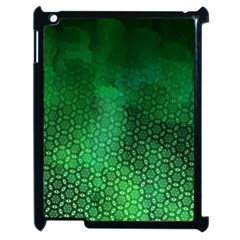 Ombre Green Abstract Forest Apple iPad 2 Case (Black)