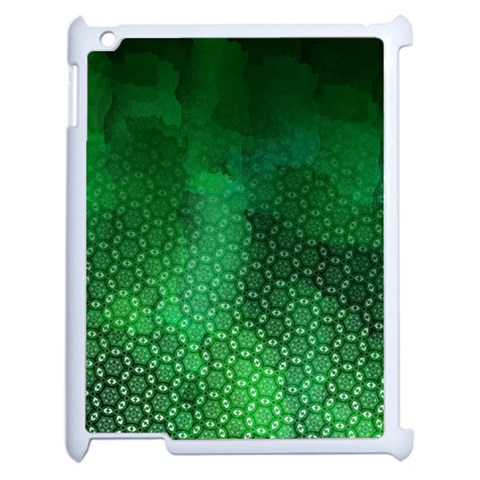 Ombre Green Abstract Forest Apple iPad 2 Case (White)